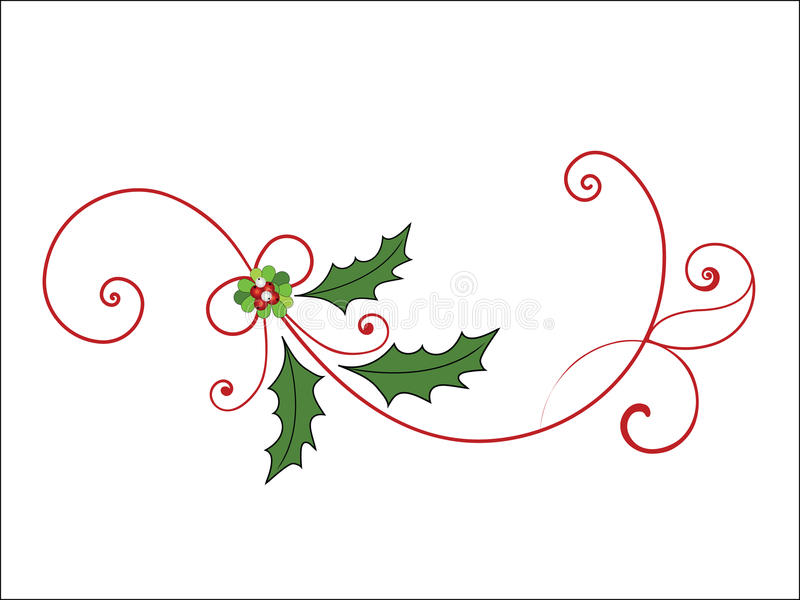 Elegante Kerstmis bloeit royalty-vrije illustratie