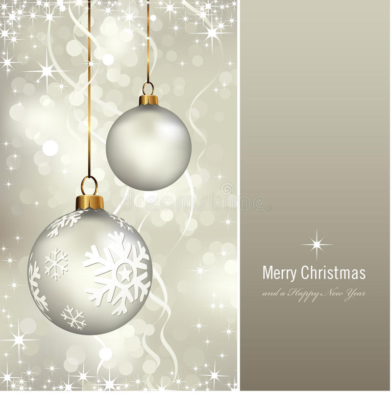Elegante Kerstmiskaart Royalty-vrije Stock Foto