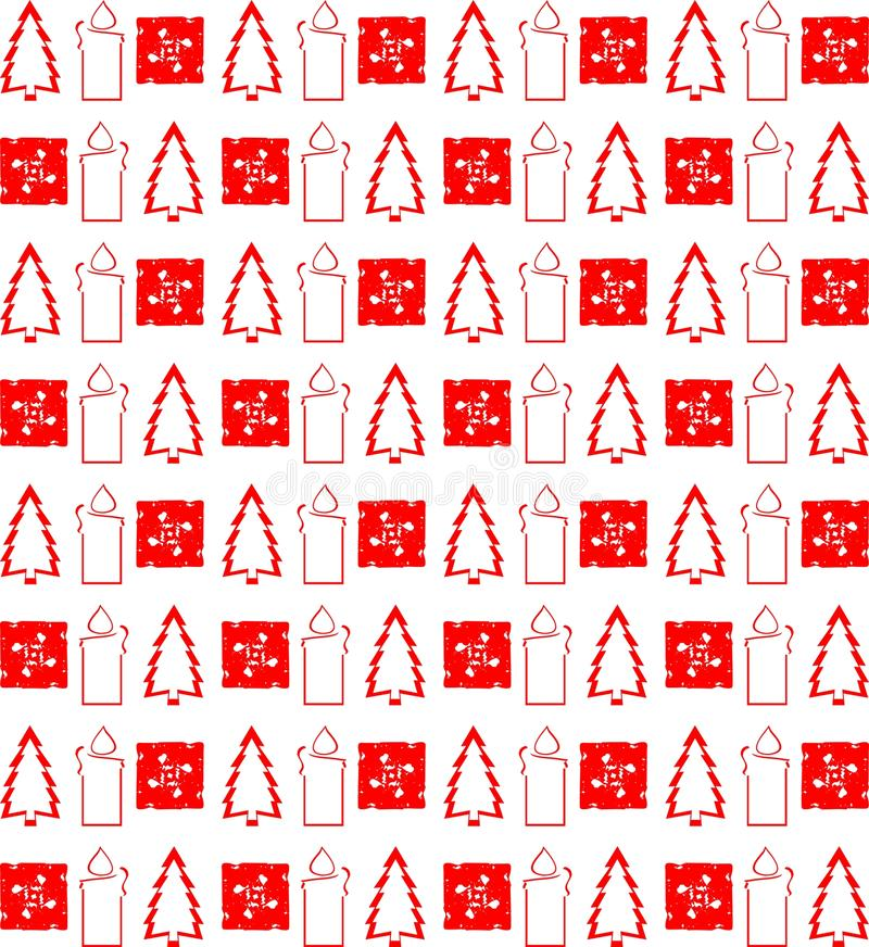 Elegante Kerstmistextuur in rood stock illustratie