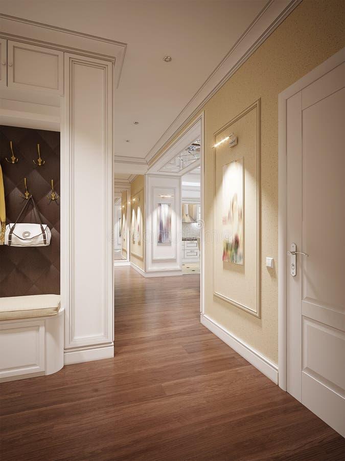 Elegante klassieke en luxueuze zaal royalty-vrije stock afbeelding
