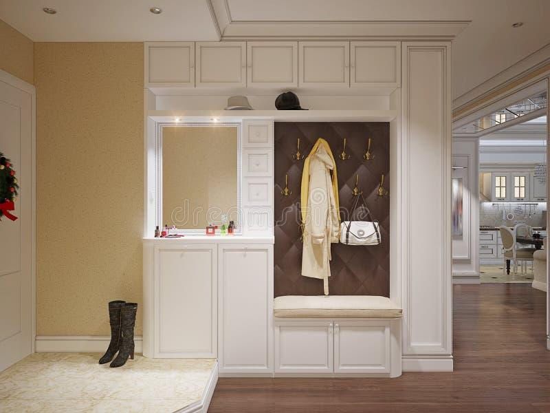 Elegante klassieke en luxueuze zaal royalty-vrije stock afbeeldingen