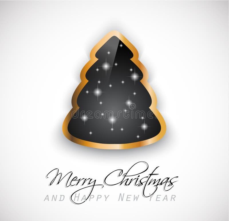 Weihnachtsgrüße Klassisch.Elegante Klassische Weihnachtsgrüße Vektor Abbildung Illustration