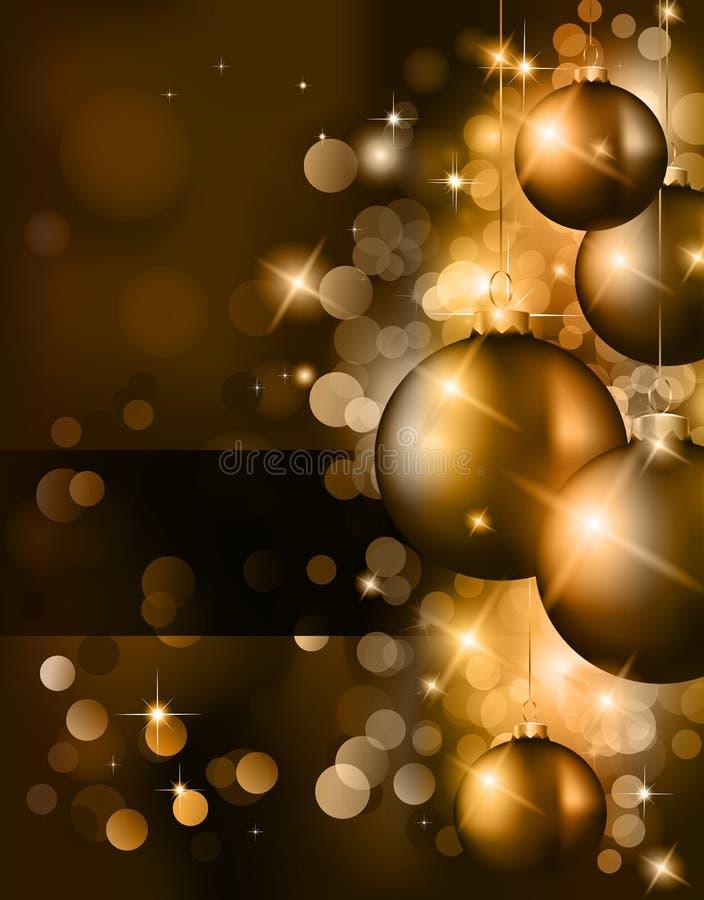 Elegante klassische Weihnachtsgrüße lizenzfreie abbildung