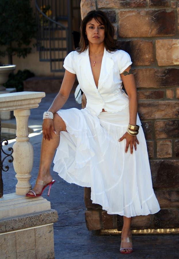 Elegante Latijnse Vrouw stock foto