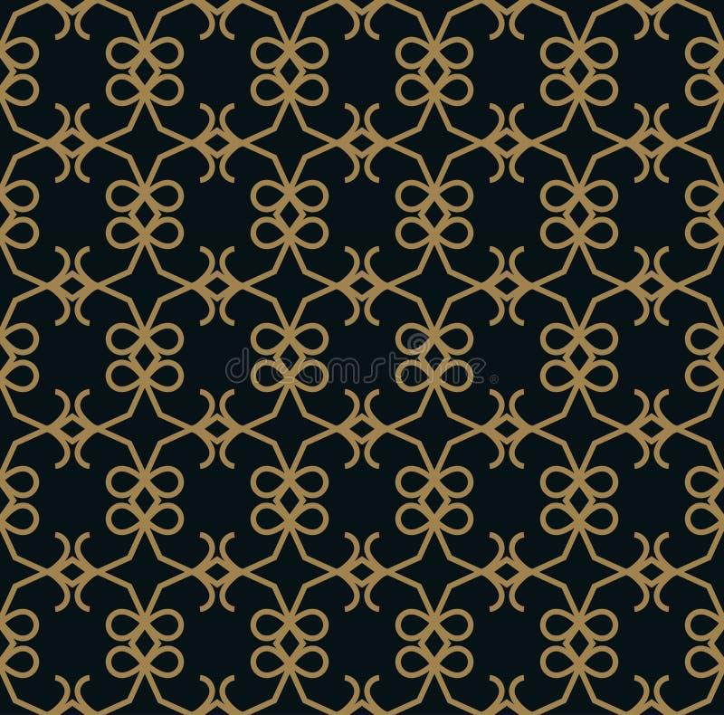 Elegante Linie nahtloses Muster des Verzierungsmusters f?r Hintergrund, Tapete, Textildrucken, das Verpacken, Verpackung, usw. lizenzfreie abbildung