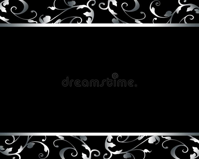 Elegante luxe zwarte kaart stock illustratie
