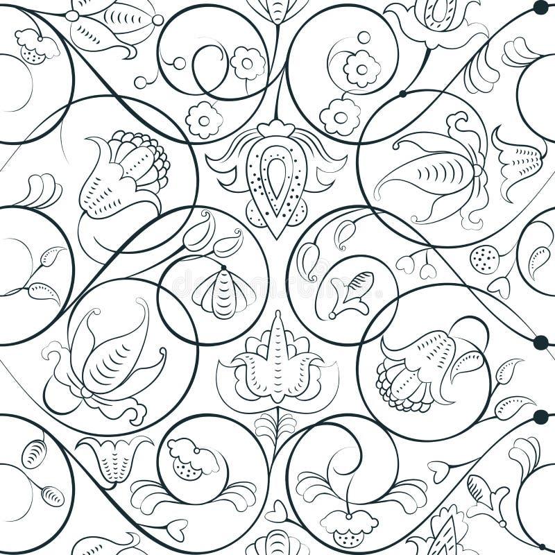 Download Elegante Mittelalterliche Blumenverzierung Stock Abbildung - Illustration von anstrich, mittelalterlich: 96925518