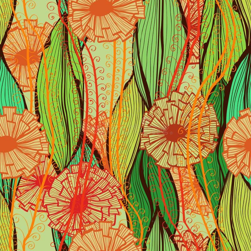 Elegante naadloze uitstekende bloemenachtergrond royalty-vrije illustratie