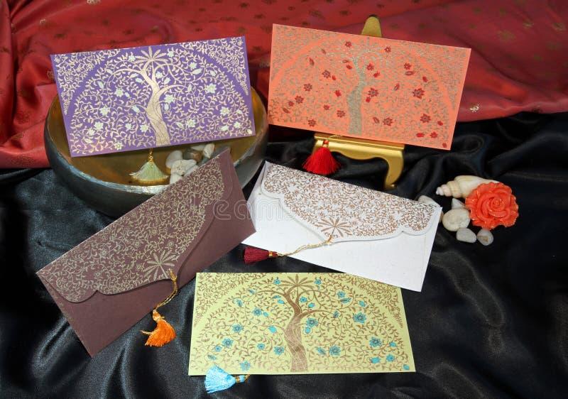 Elegante notakaarten royalty-vrije stock afbeeldingen