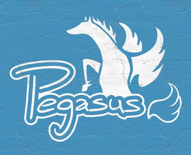 Elegante pegasus vector illustratie