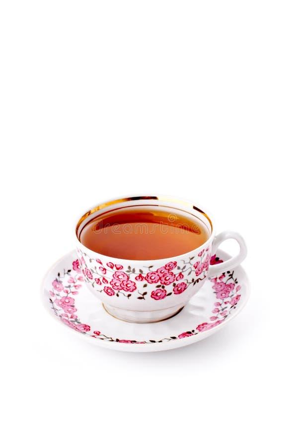Elegante porseleinkop thee royalty-vrije stock afbeeldingen