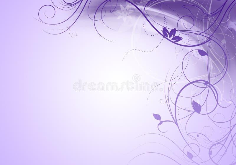 Elegante purpere achtergrond met wervelingen en ruimte voor uw tekst stock illustratie