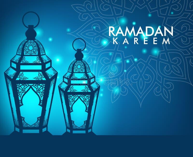 Elegante Ramadan Kareem Lantern of Fanous stock illustratie