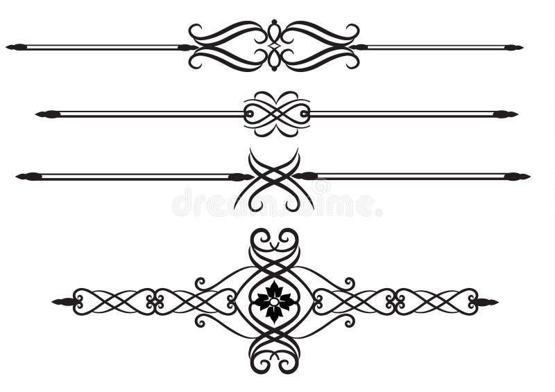 Elegante regellijnen royalty-vrije illustratie