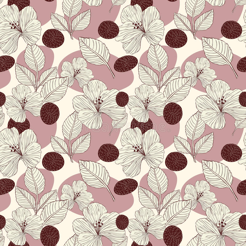 Elegante retro naadloze patroonachtergrond vector illustratie