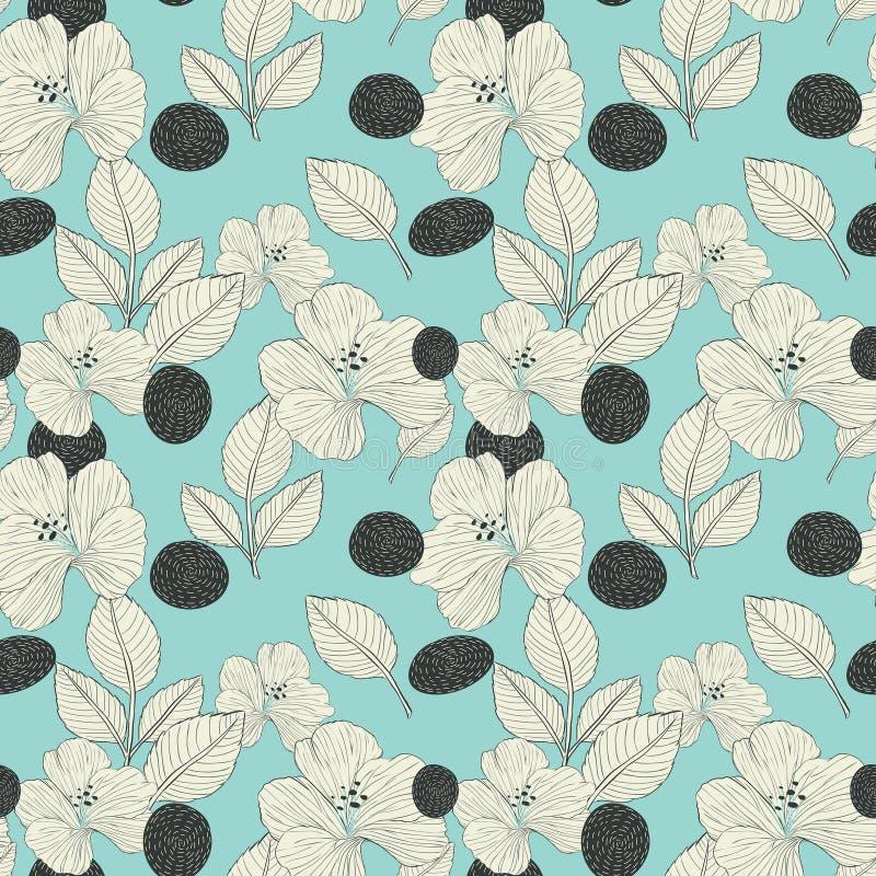 Elegante retro naadloze patroonachtergrond royalty-vrije illustratie