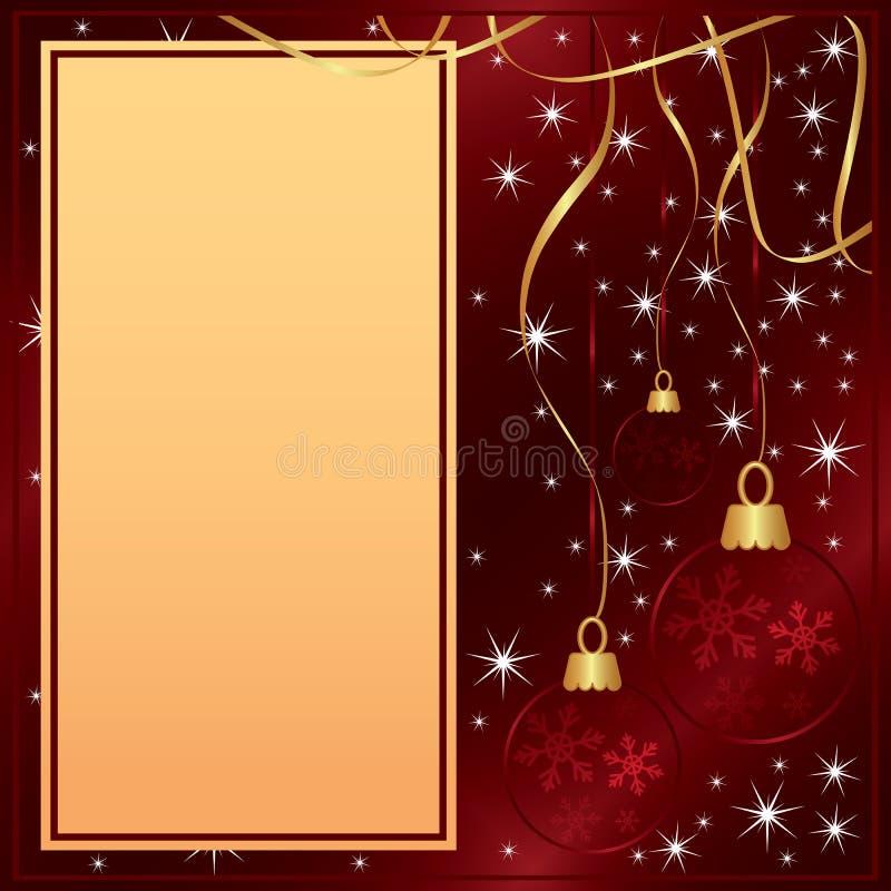Elegante rote Karte der frohen Weihnachten vektor abbildung