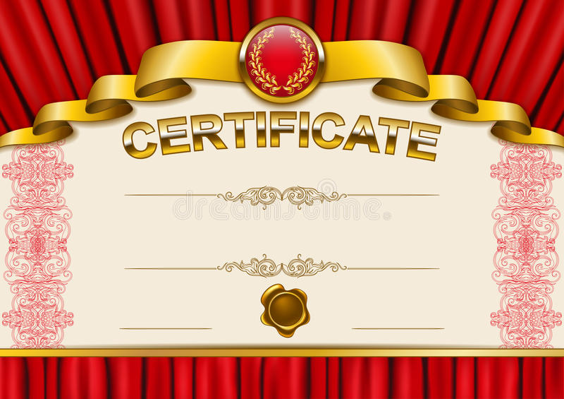 Elegante Schablone des Zertifikats, Diplom vektor abbildung