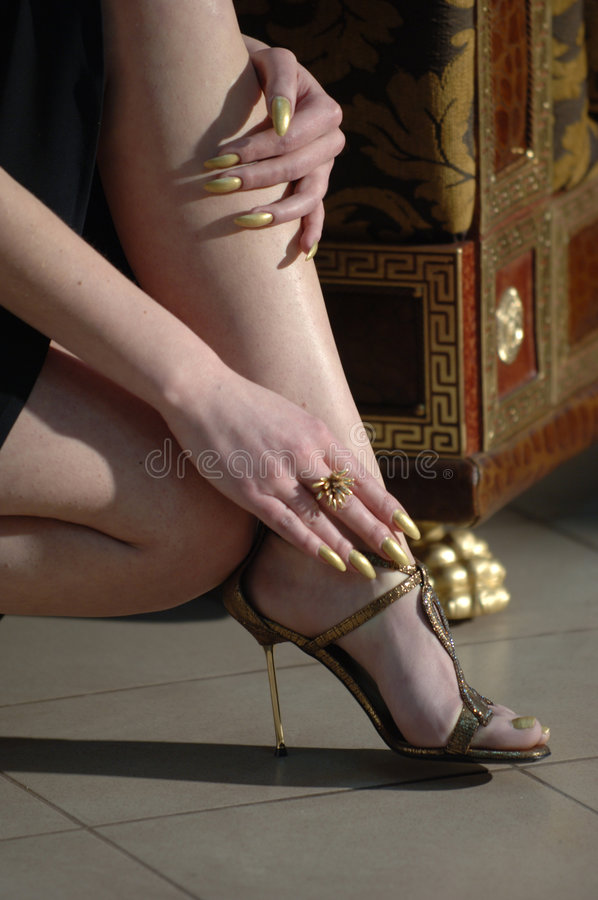 Elegante schoenen stock foto's