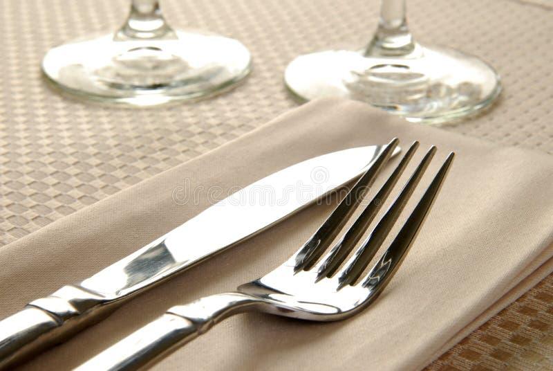 Elegante Tabellen-Einstellung stockbild