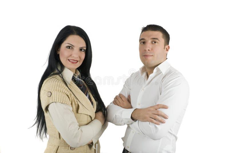 Elegante twee bedrijfsmensen royalty-vrije stock afbeelding