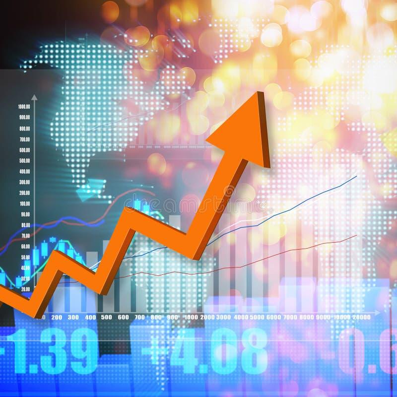 Elegante variopinto del grafico del mercato azionario su fondo astratto illustrazione vettoriale