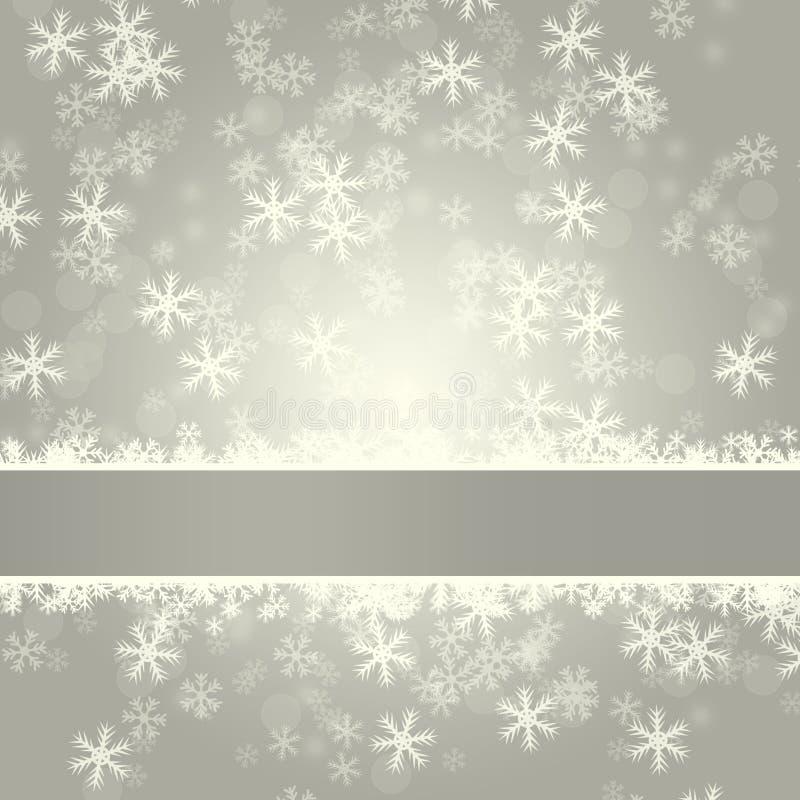 Elegante variopinto delle precipitazioni nevose deliziose di inverno su fondo astratto illustrazione di stock