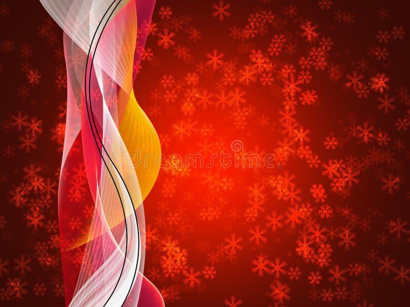 Elegante variopinto delle precipitazioni nevose deliziose di inverno su fondo astratto royalty illustrazione gratis