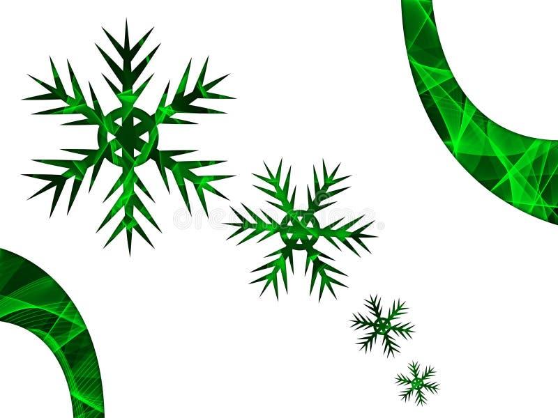 Elegante variopinto di Christmasl su fondo astratto illustrazione vettoriale