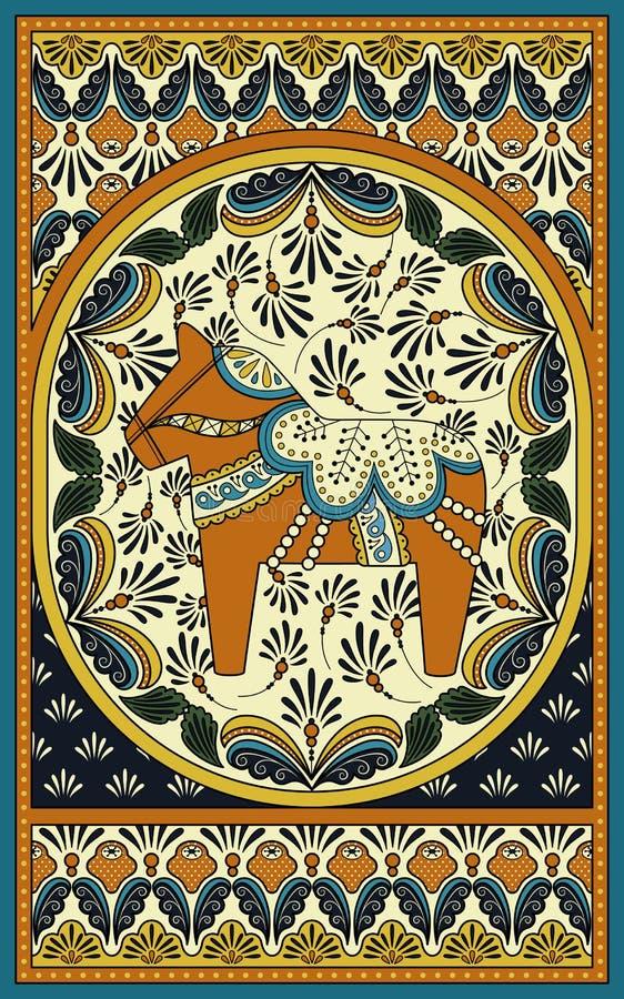 Elegante volwassen kleurende pagina vector illustratie