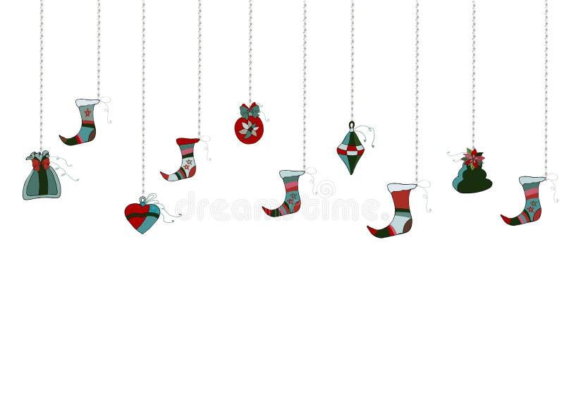 Elegante Vrolijke Kerstkaart vector Vrije Vector royalty-vrije illustratie