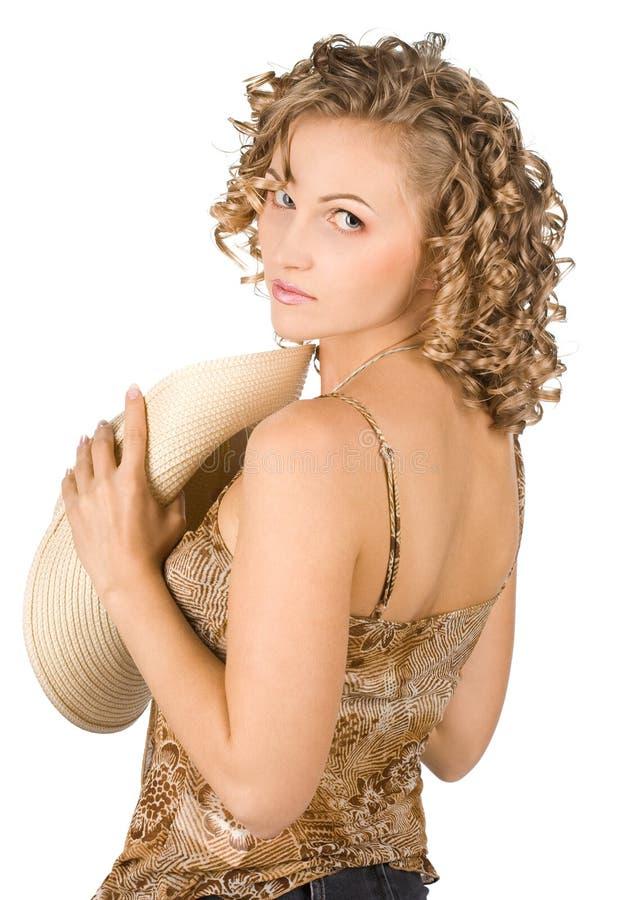 Elegante vrouw royalty-vrije stock fotografie