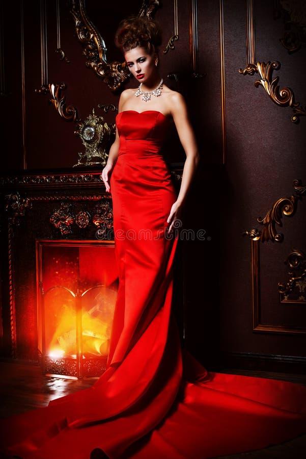 Elegante vrouw stock fotografie