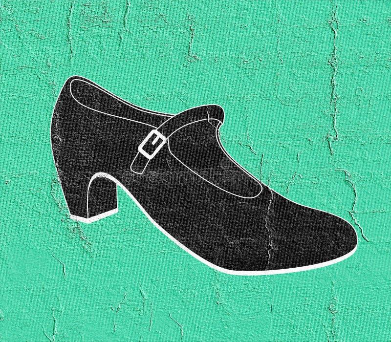 Elegante vrouwelijke schoen vector illustratie