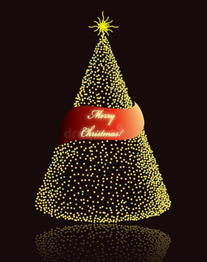 Elegante Weihnachtskarte lizenzfreie abbildung