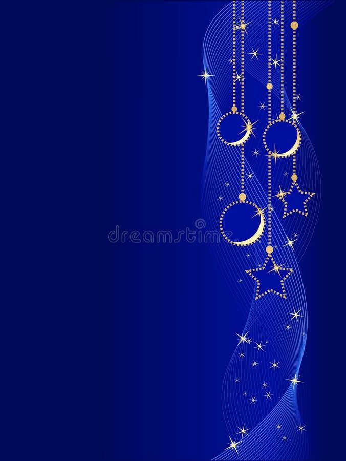Elegante Weihnachtskugeln und -sterne vektor abbildung
