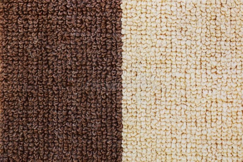 elegante woolen Teppichbeschaffenheit für Muster und Hintergrund stockbild
