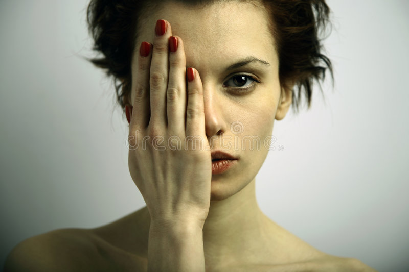 Elegante Young Emotional Woman Royalty Free Stock Photos