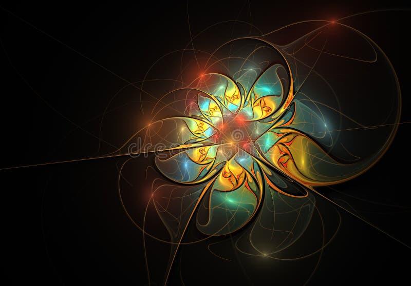 Elegante zachte, uiterst gevoelige en doorzichtige bloemsamenstelling met een zijdeachtige oppervlakte vector illustratie