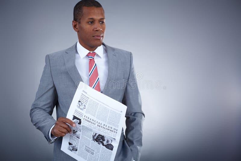 Elegante zakenman royalty-vrije stock foto