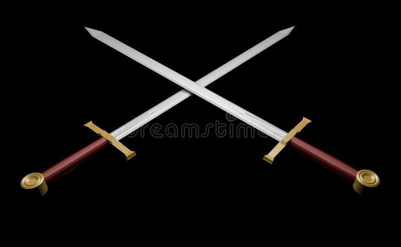 Elegante zwaarden vector illustratie