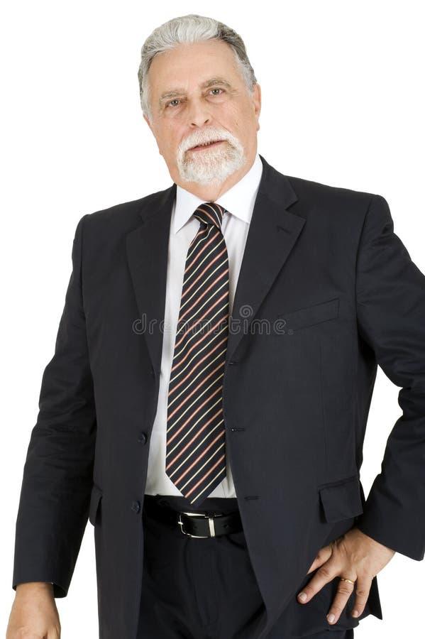 Eleganter älterer Mann lizenzfreie stockfotos