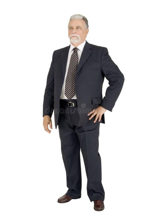Eleganter älterer Mann stockfotografie