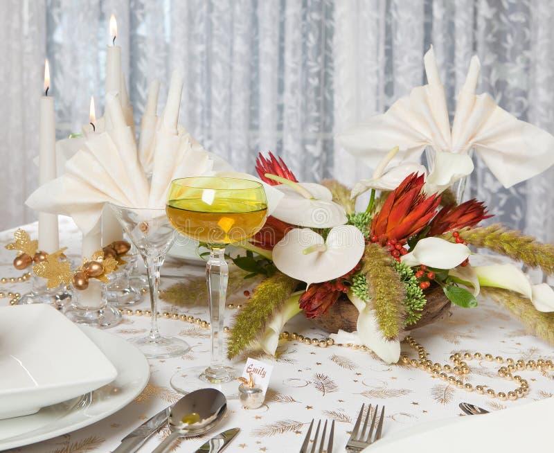 Eleganter Abendtisch 2 stockfotos