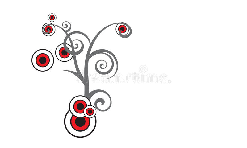 Eleganter abstrakter Blumenhintergrund stock abbildung