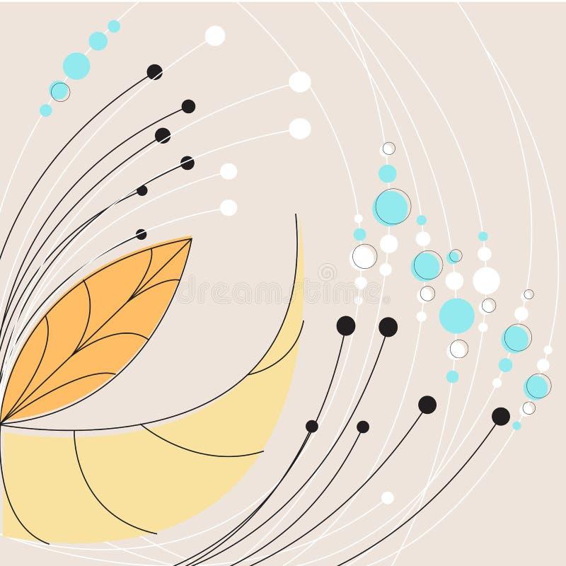 Eleganter abstrakter Geschäftsmit blumenhintergrund lizenzfreie abbildung
