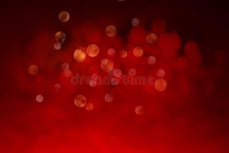 Eleganter abstrakter Hintergrund mit bokeh defocused Lichtern und Sternen stock abbildung
