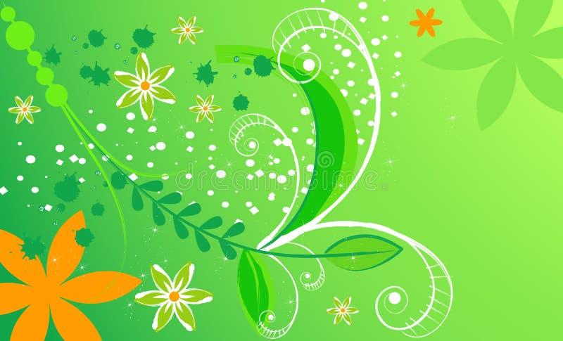 Eleganter abstrakter mit Blumenhintergrund mit copyspace vektor abbildung
