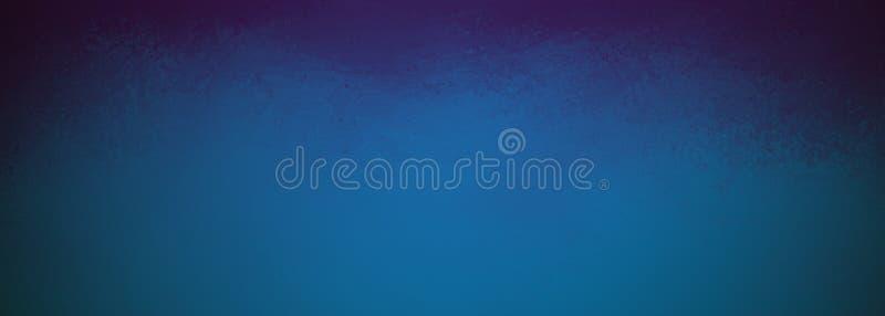 Eleganter blauer Hintergrund mit schwarzen strukturierten Ecken und Weinleseschmutzbeschaffenheit, noble einfache Website oder Pl lizenzfreie stockfotografie