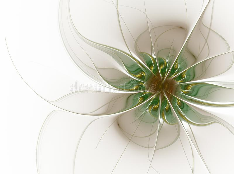 Eleganter Blumenfractalentwurf im Weiche ordnete Pastellfarben lizenzfreie abbildung